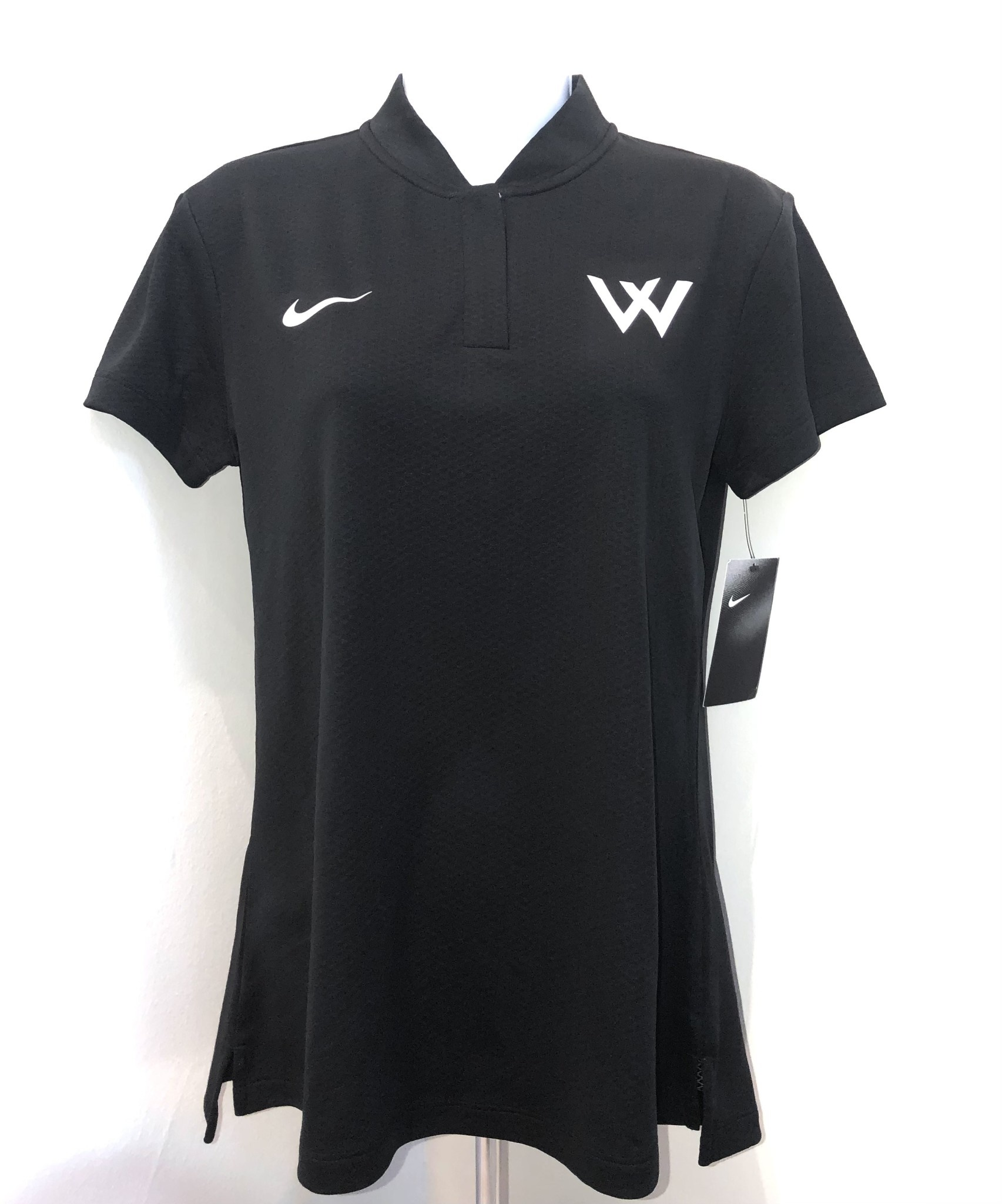 Nike Polo: Nike Women's Ace Blade Polo Black with W