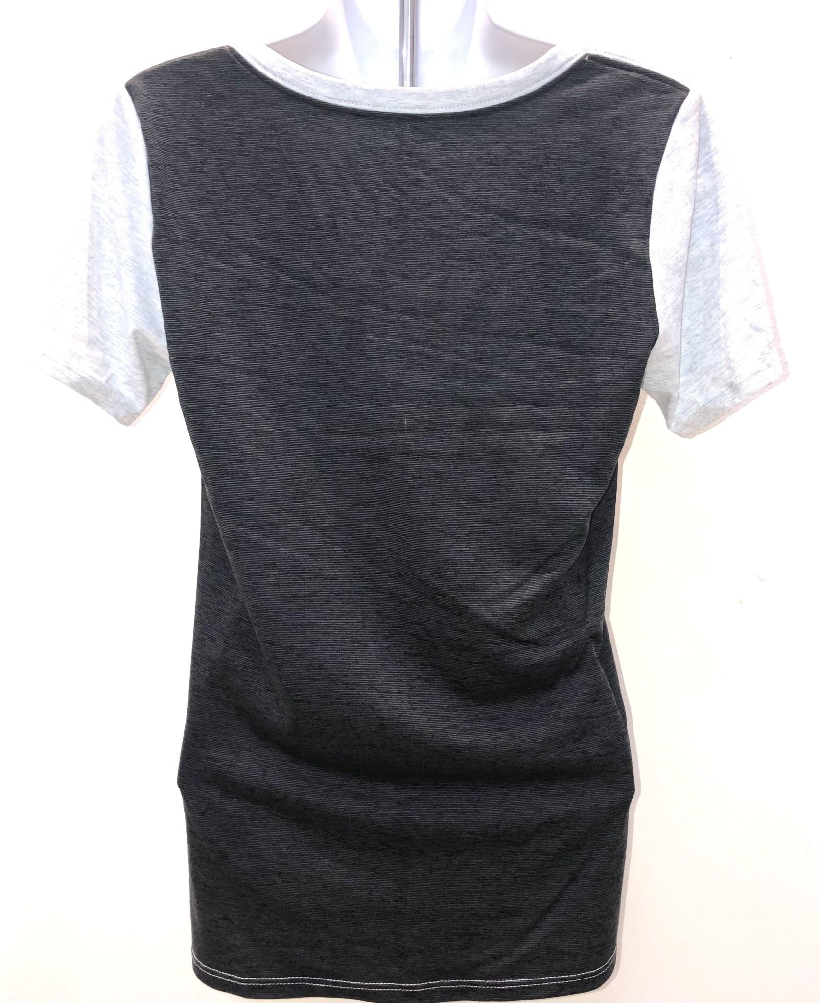 Nike T: Nike Women's Dri-fit Vneck Light Gray (Dark Gray on Back) with W