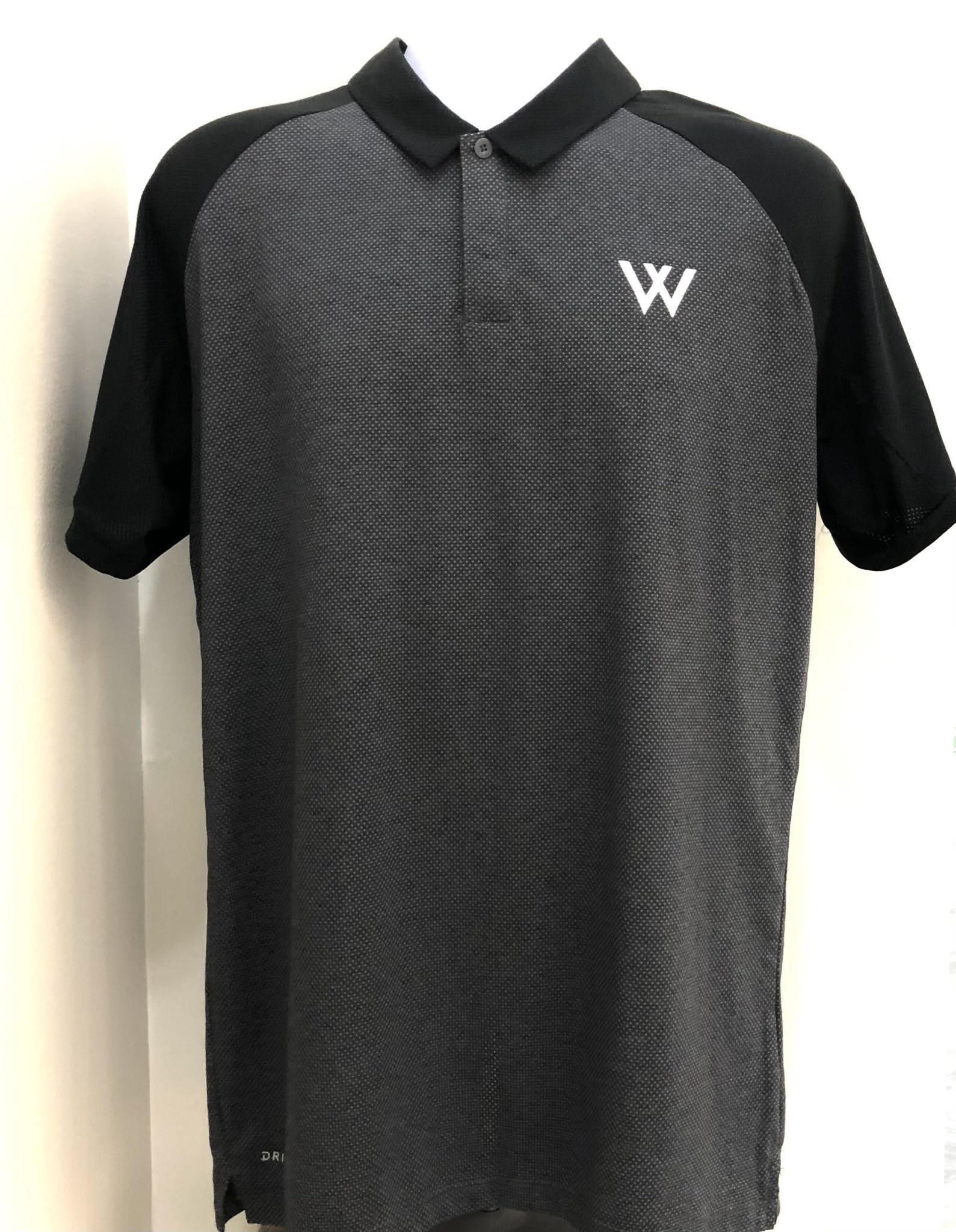 Nike Polo: Nike Dry Raglan Black & Gray