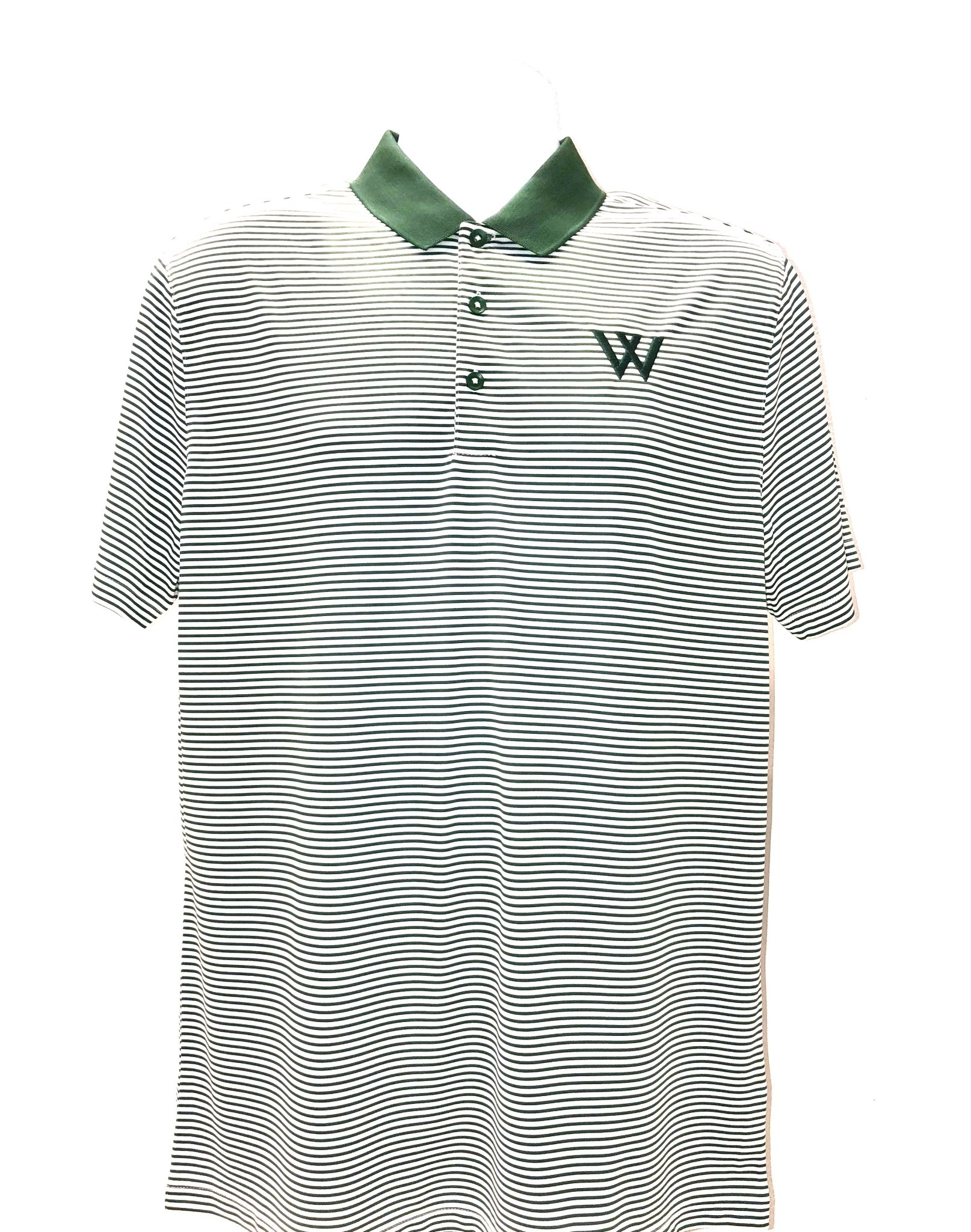 Nike Polo: Nike Victory Mini Stripe Green & White