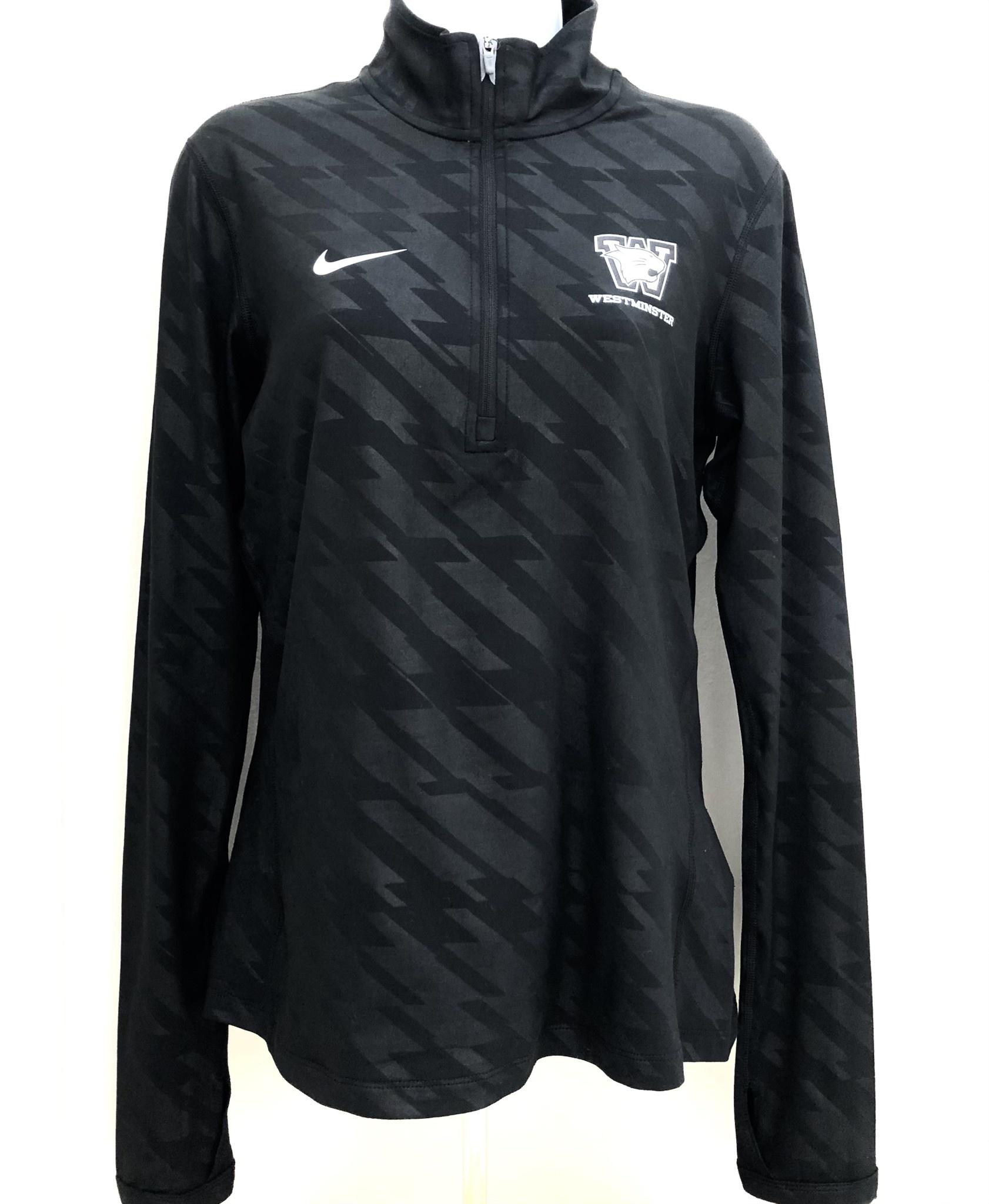 Nike Nike Women's Embossed 1/2 zip - Black