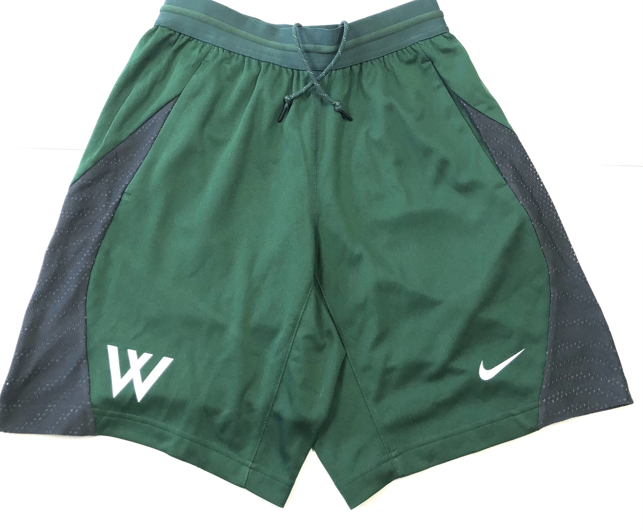 Nike Shorts: Nike Fly Knit Green with Gray Mesh Side