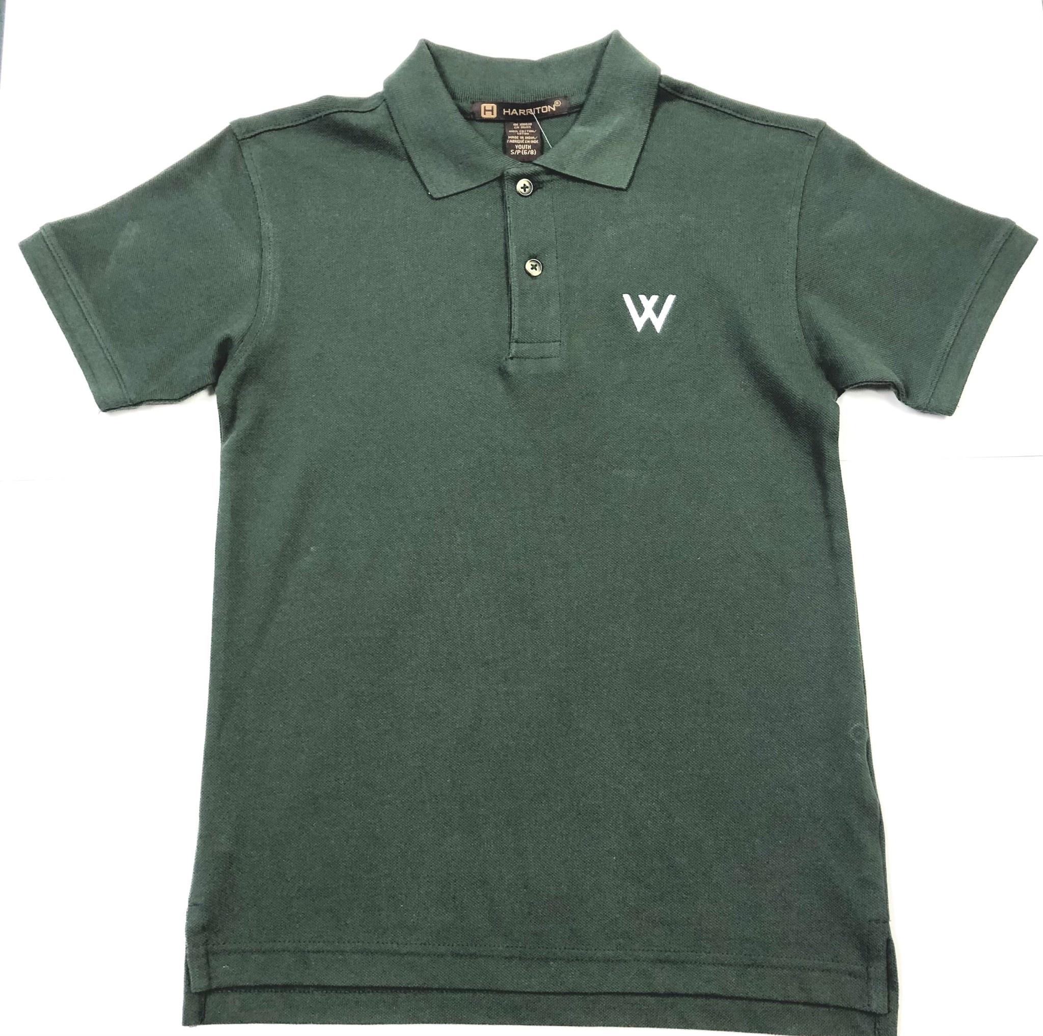 Polo: Harrington Youth Green w/W