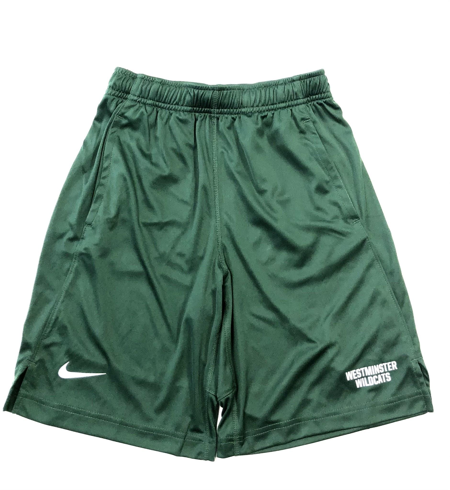 Nike Shorts: Boys Green Fly 2.0 WM Wildcats