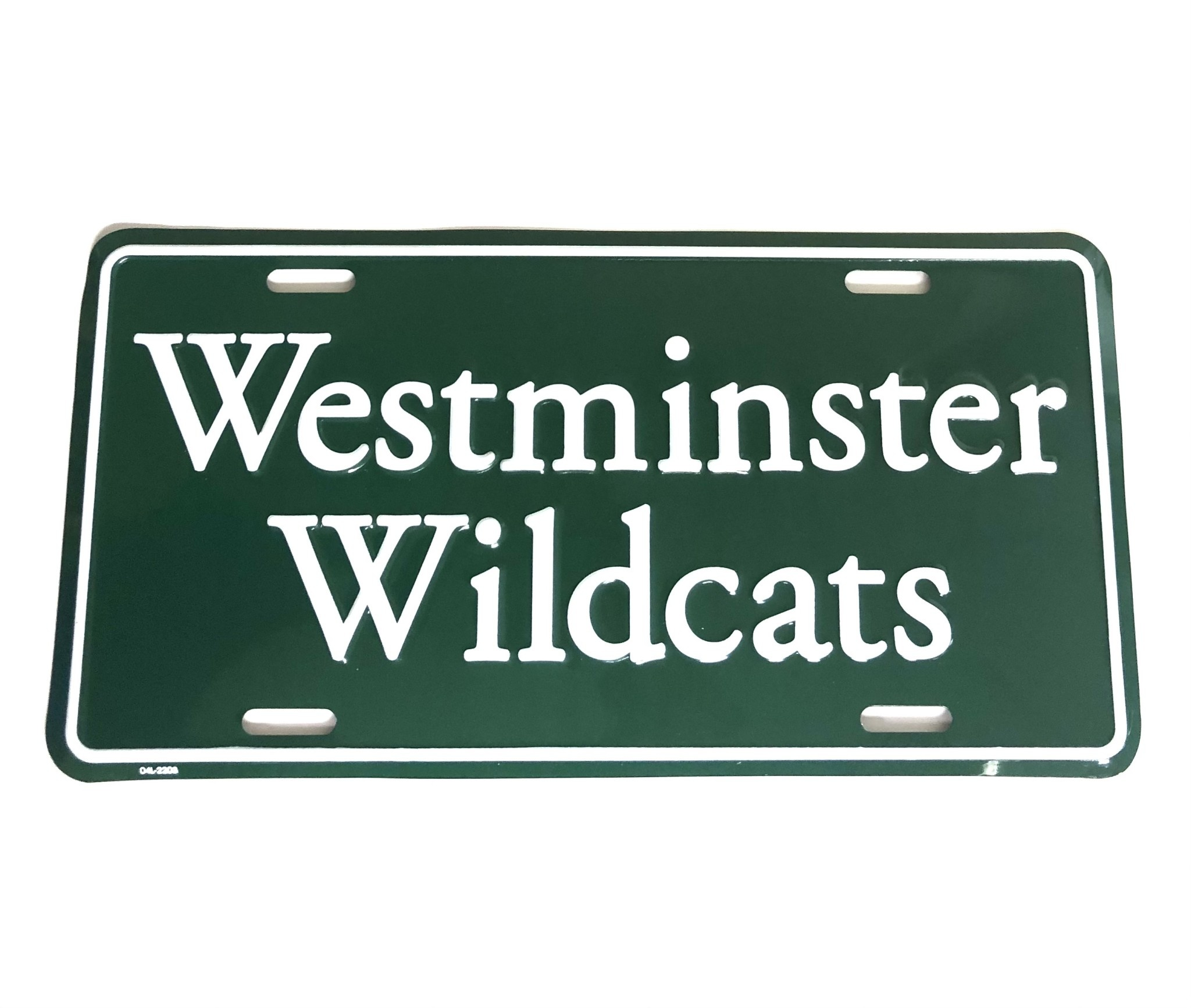 License: Westminster Green Plate
