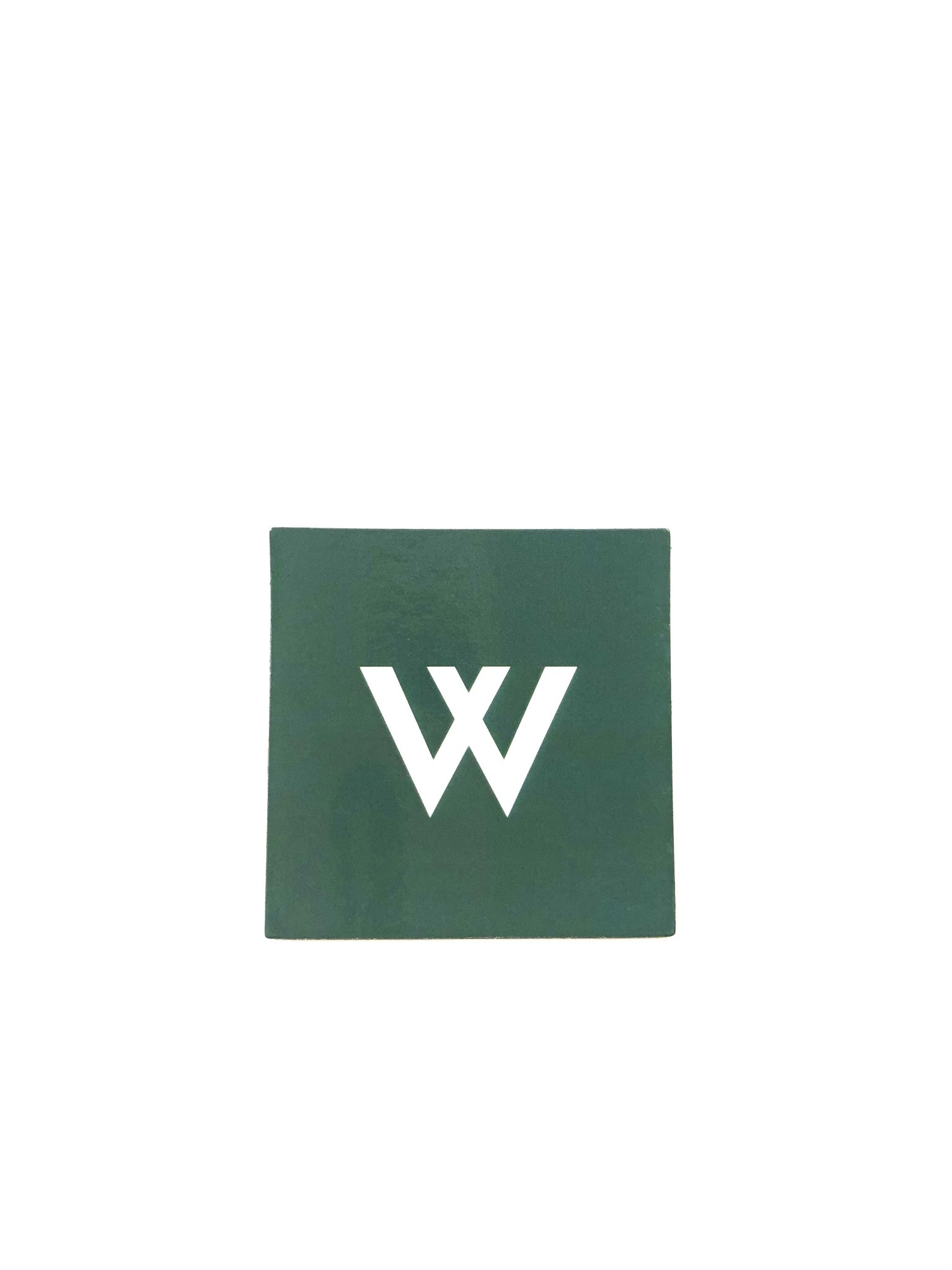 Magnet: New W Square - Dark Green