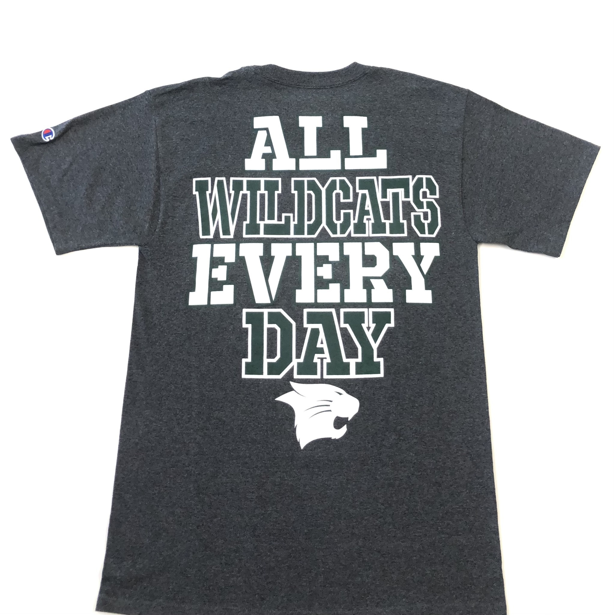 Champion T: Champion Granite Heather All Wildcats Every Day