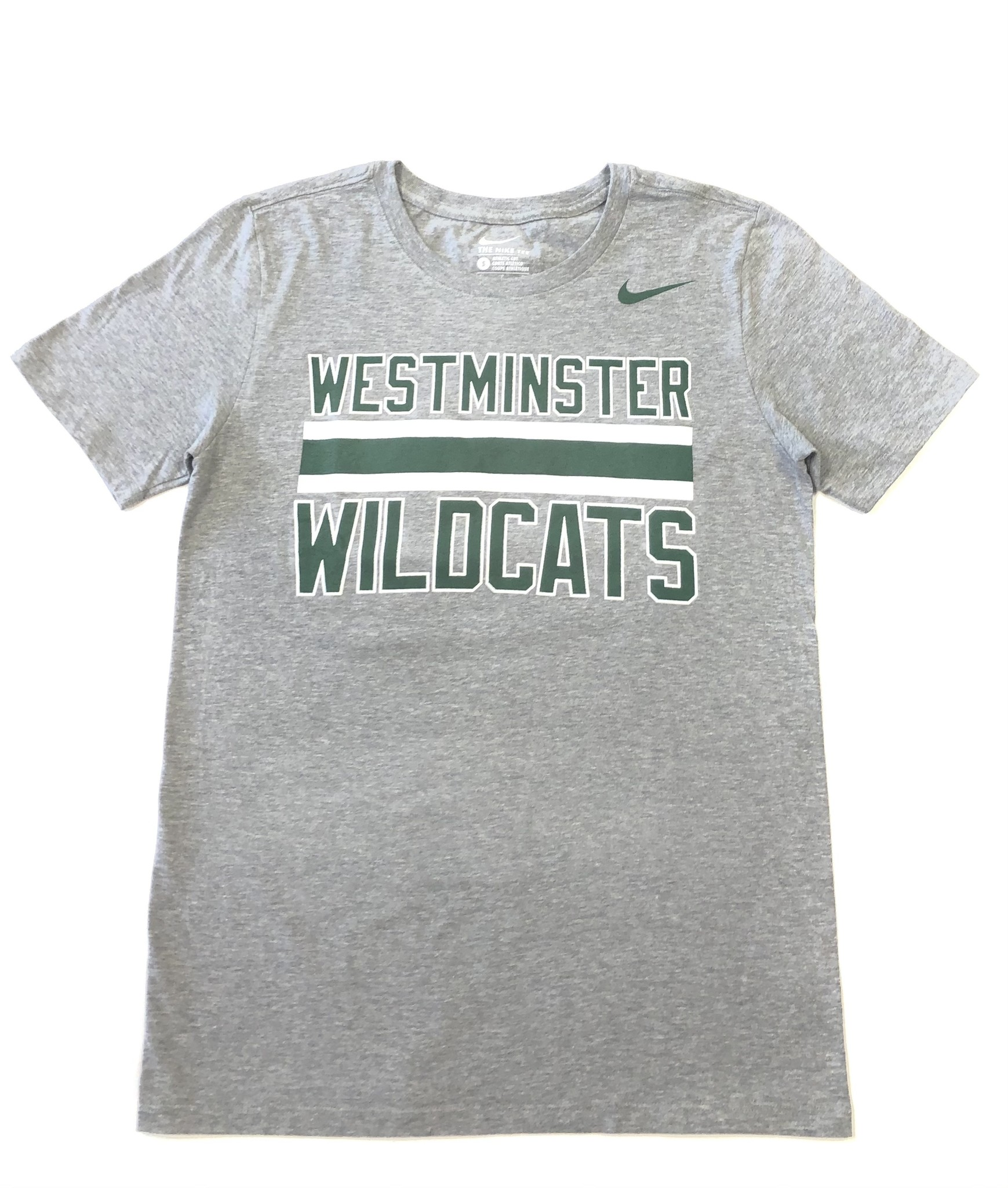 Nike T: Nike Core SS Westminster Wildcats Stripes