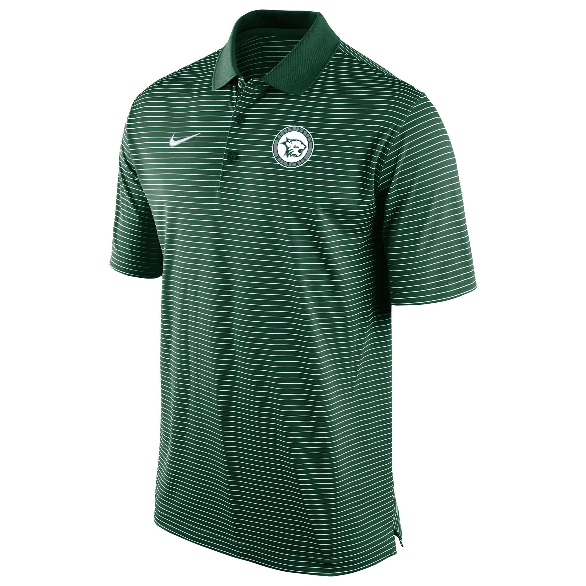 Nike Polo: Nike Stadium Stripe with Circle Logo