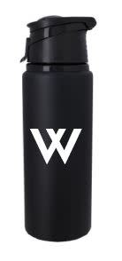 Water Bottle: 24 oz Velvet Touch Aluminum Black