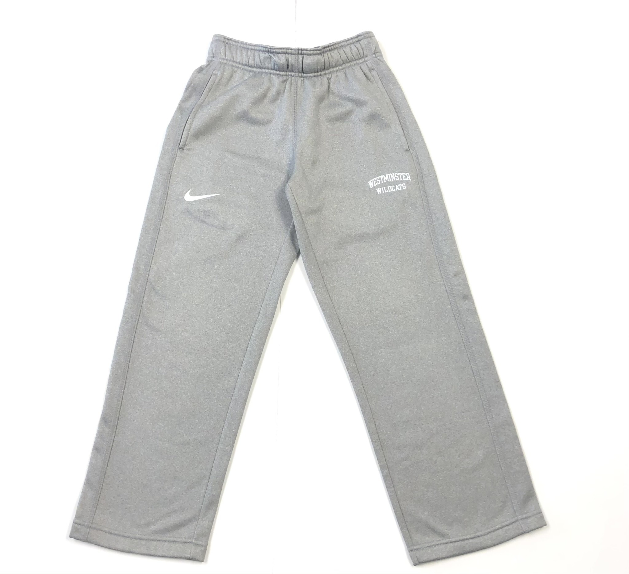 Nike Sweatpants: Nike KO pant - Dark Heather white Westminster Wildcats