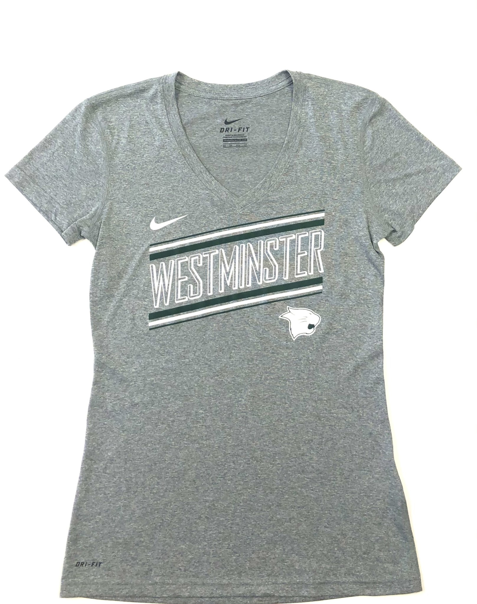 Nike T: Nike Women's Dri-Fit V-Neck SS Onyx Heather - Westminster Slant