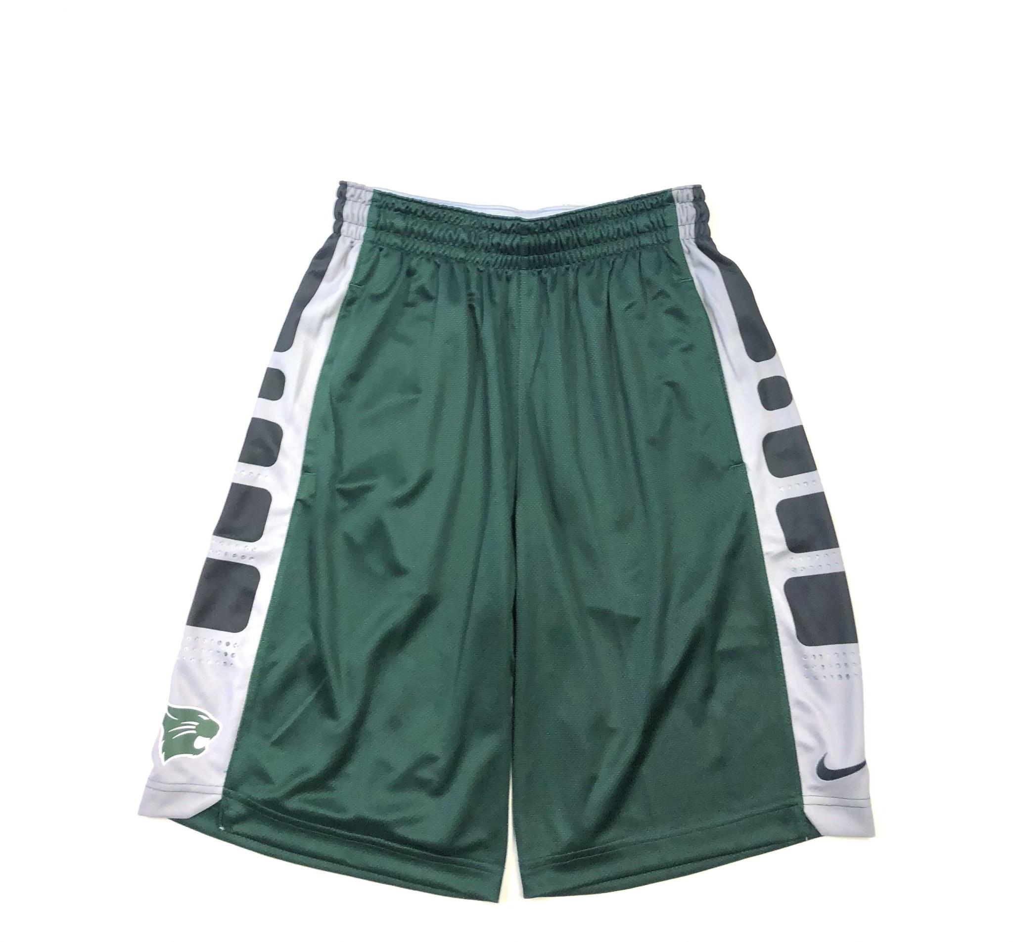 Nike Shorts: Nike XL Elite - Green/Gray Squares Down Side