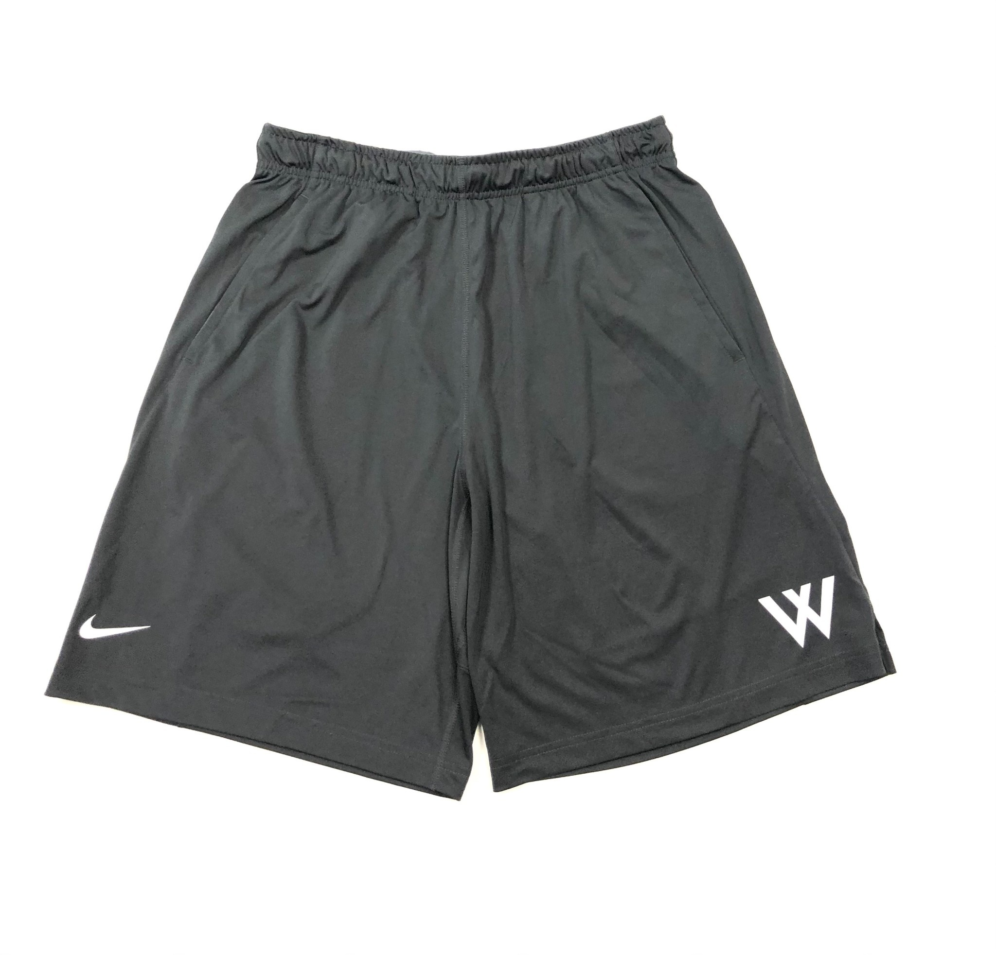 Nike Shorts: Nike Anthracite Fly 2.0 w/White W
