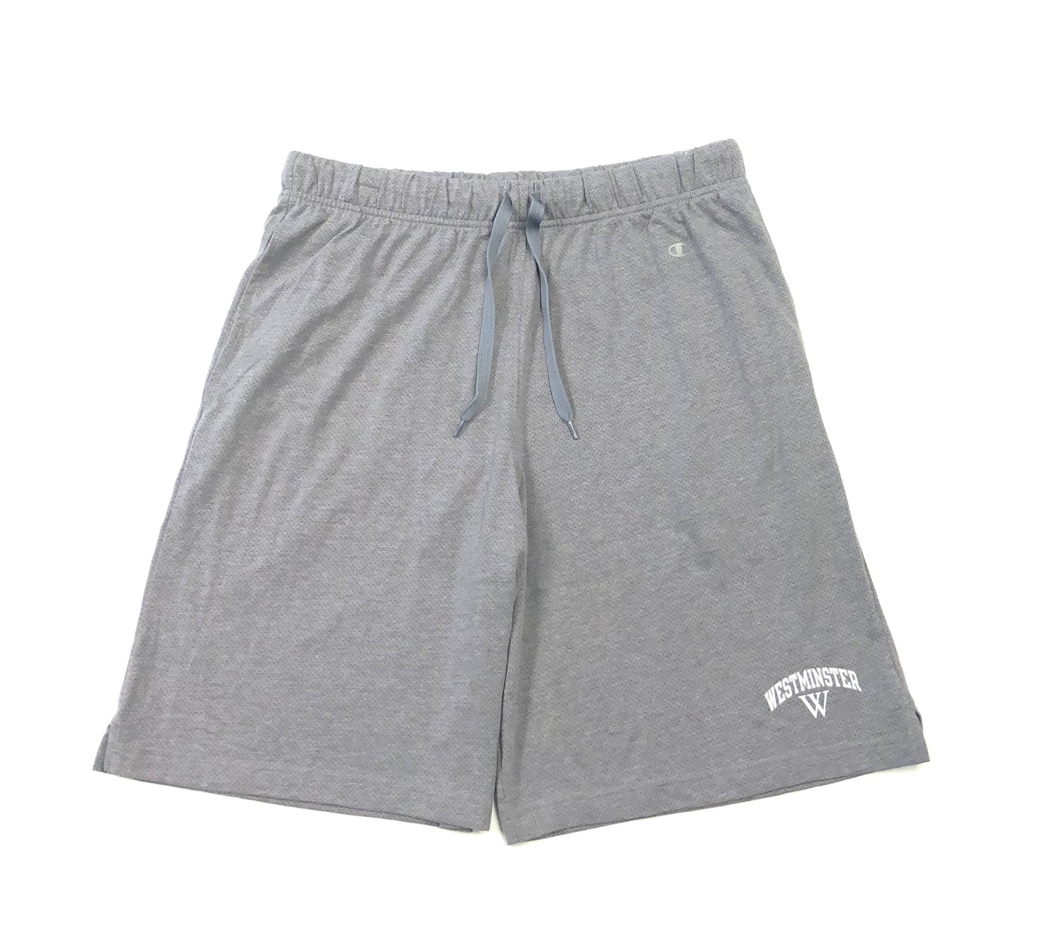 Champion Shorts: Champion Light Gray Knit w/White Westminster and White W
