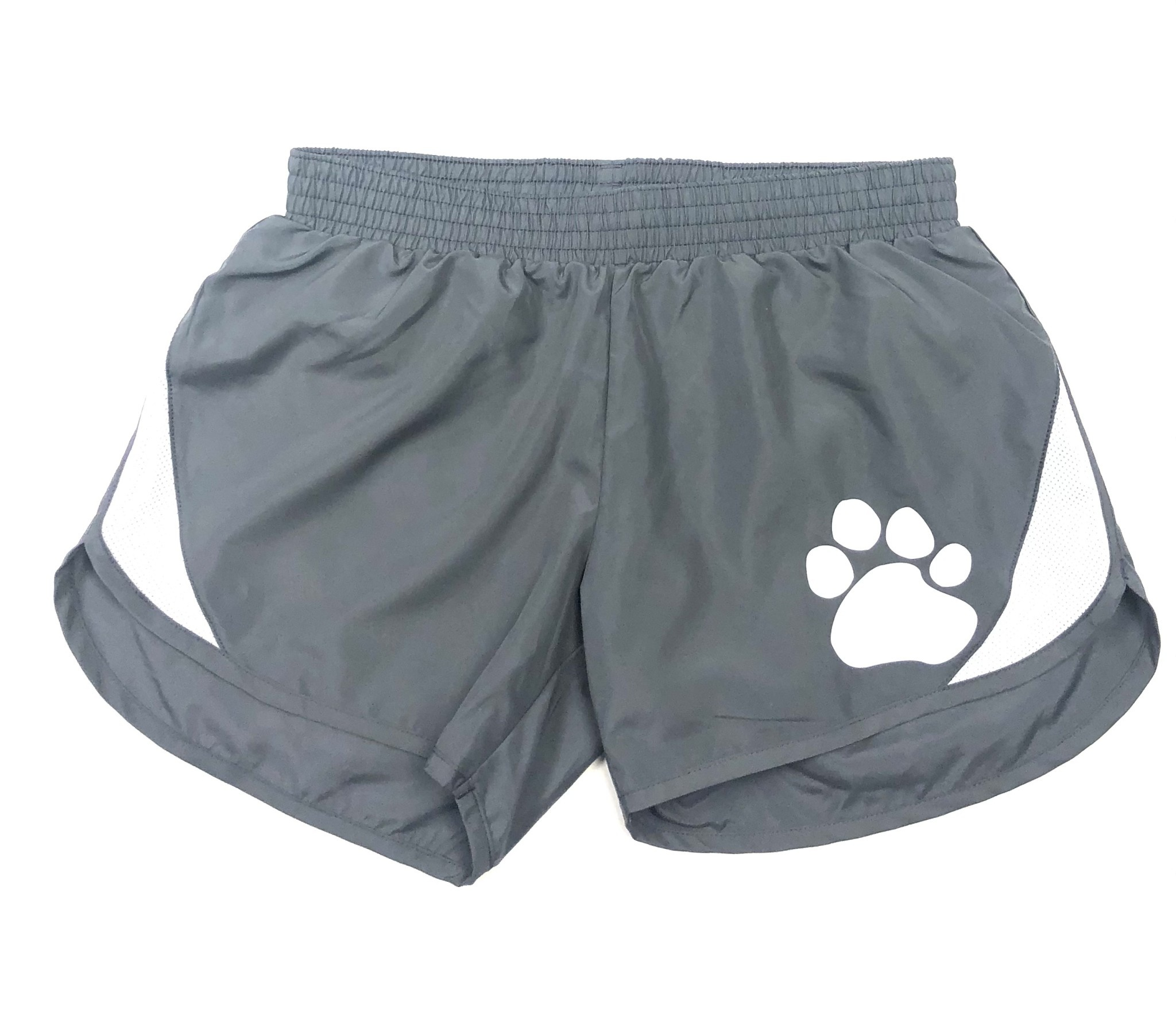 Forerunner-Pennant Shorts: Forerunner Youth Girls  Gray  with Paw