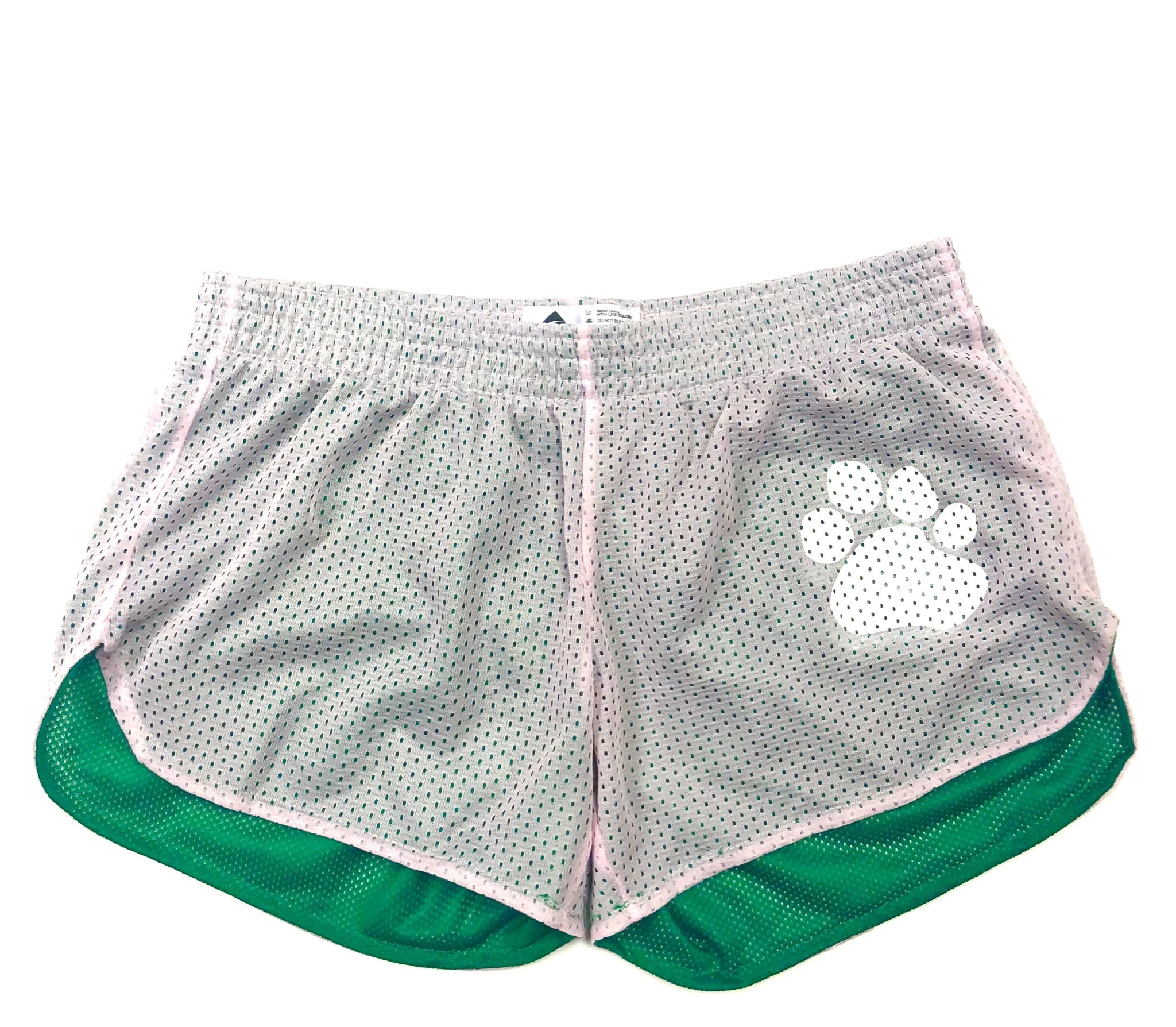 Forerunner-Pennant Shorts: Forerunner Youth Girls Pink with Paw