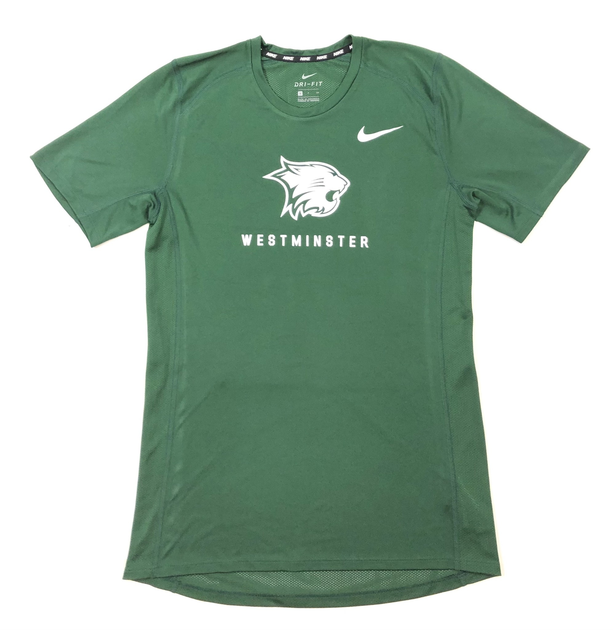 Nike T: Nike SS Dri-fit Miler Green