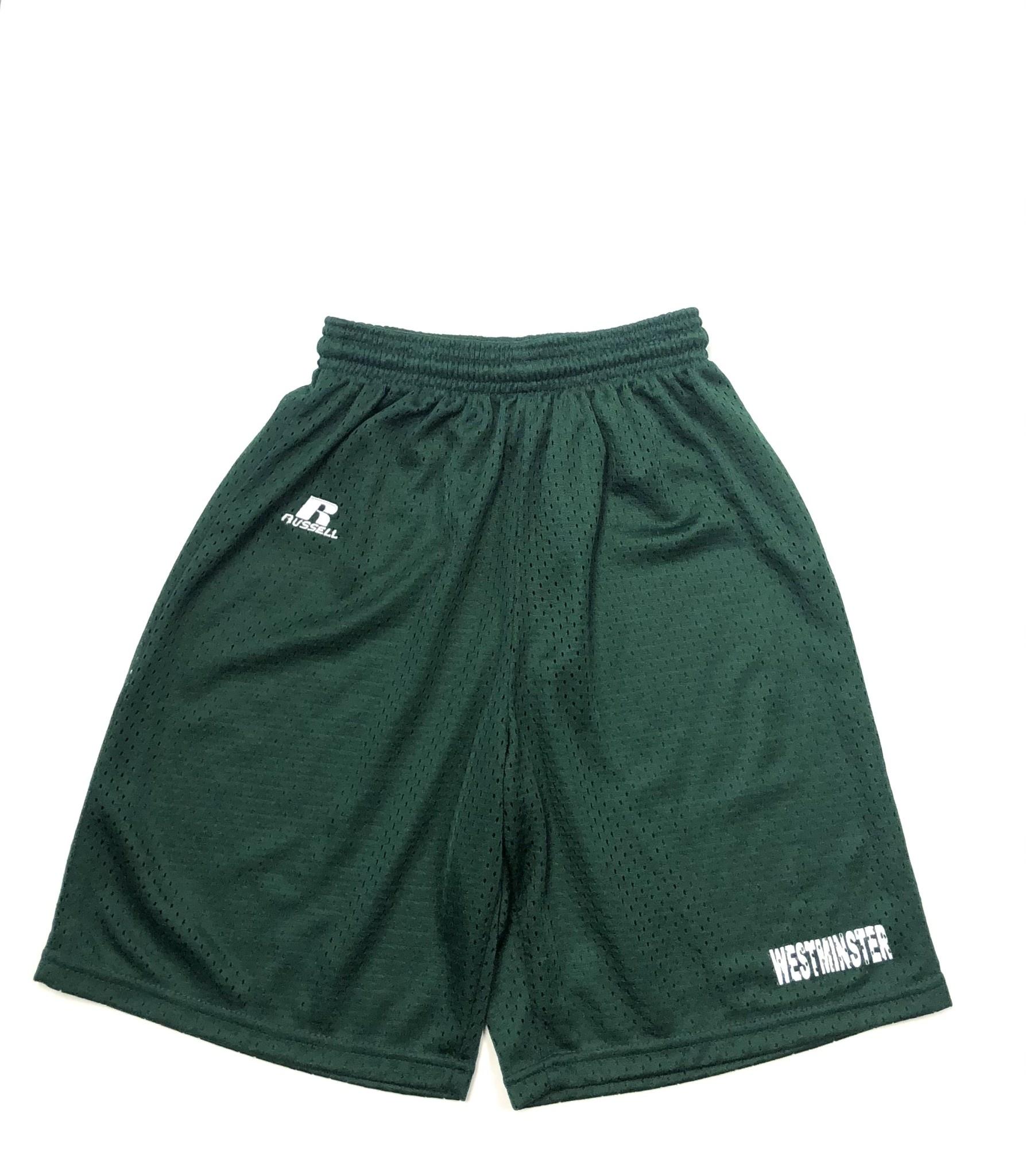 Shorts: Russell YS Green Mesh