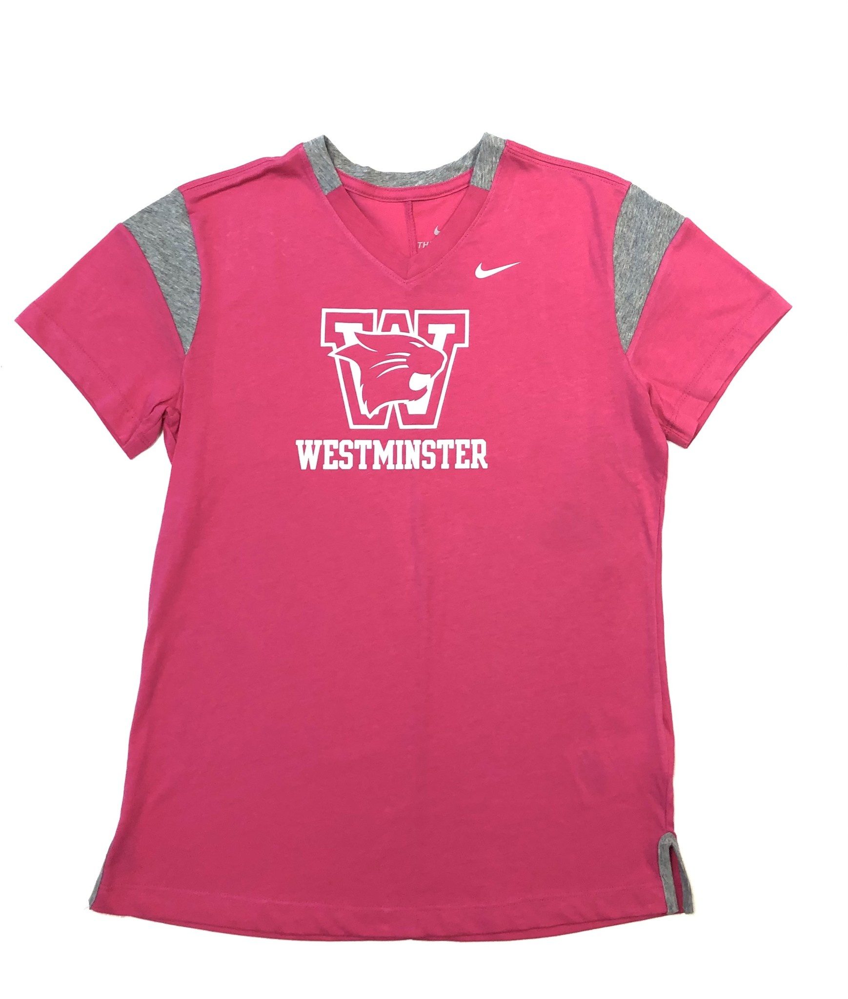 Nike T: Nike Girls SS Fan V Vivid Pink