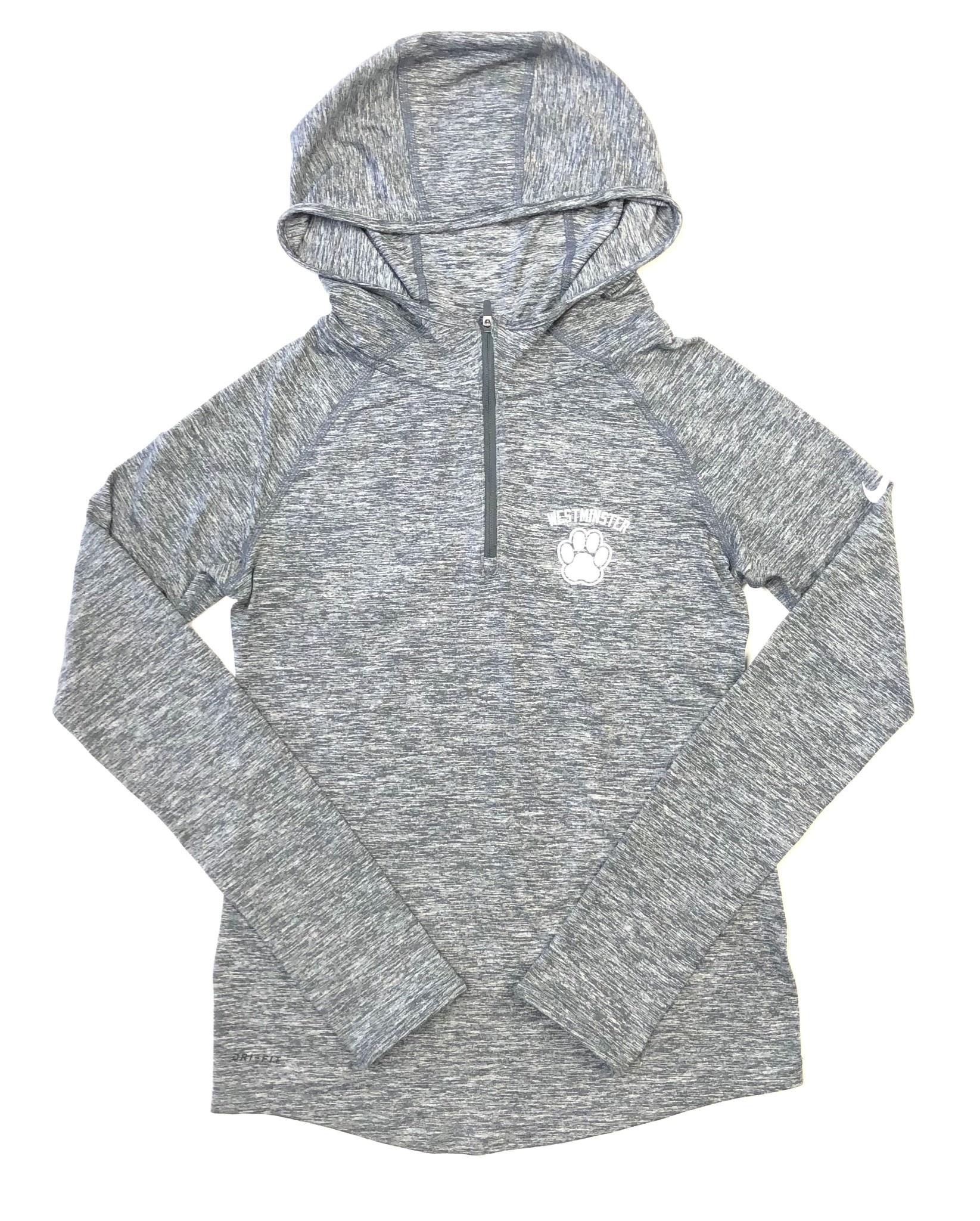 Nike Pullover: Nike Girls 1/4 Zip Hoody Carbon Heather