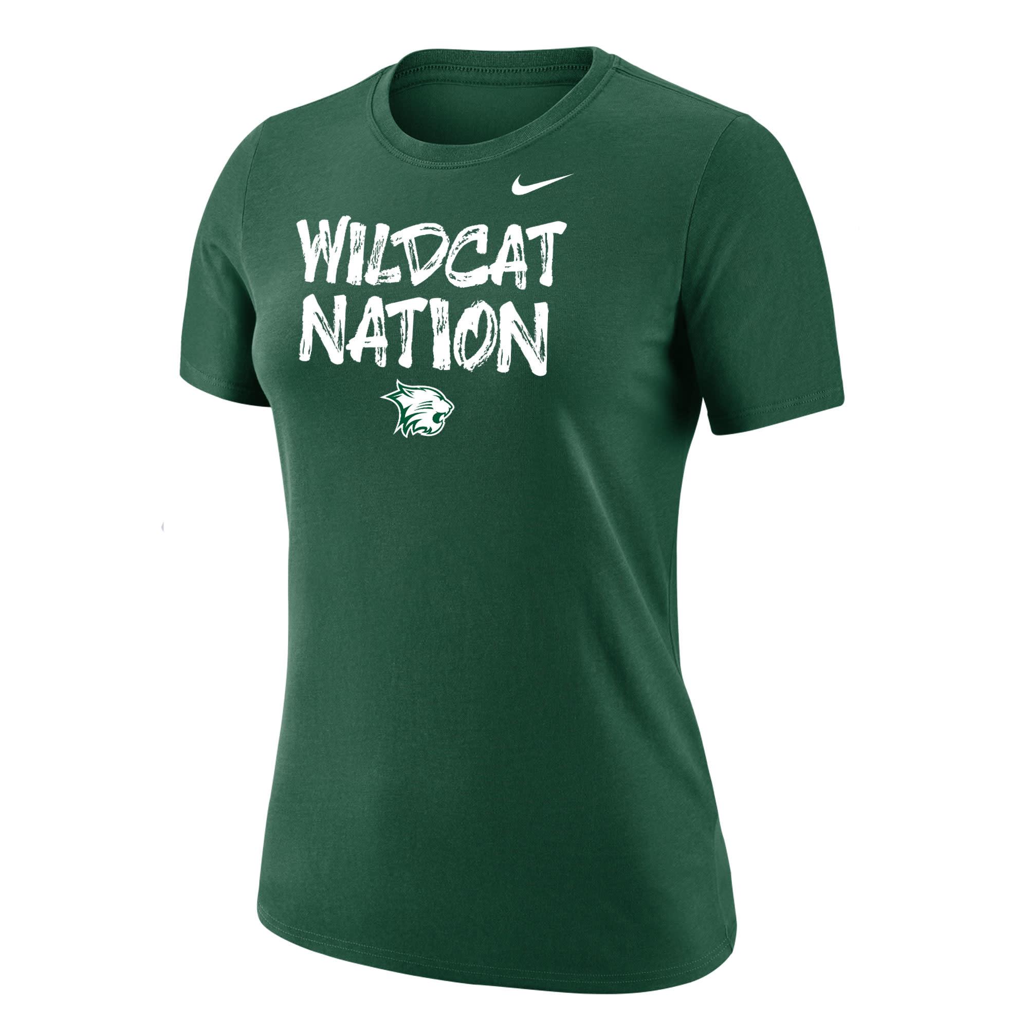 Nike T: Nike Women's Dri-Fit Cotton SS Wildcat Nation