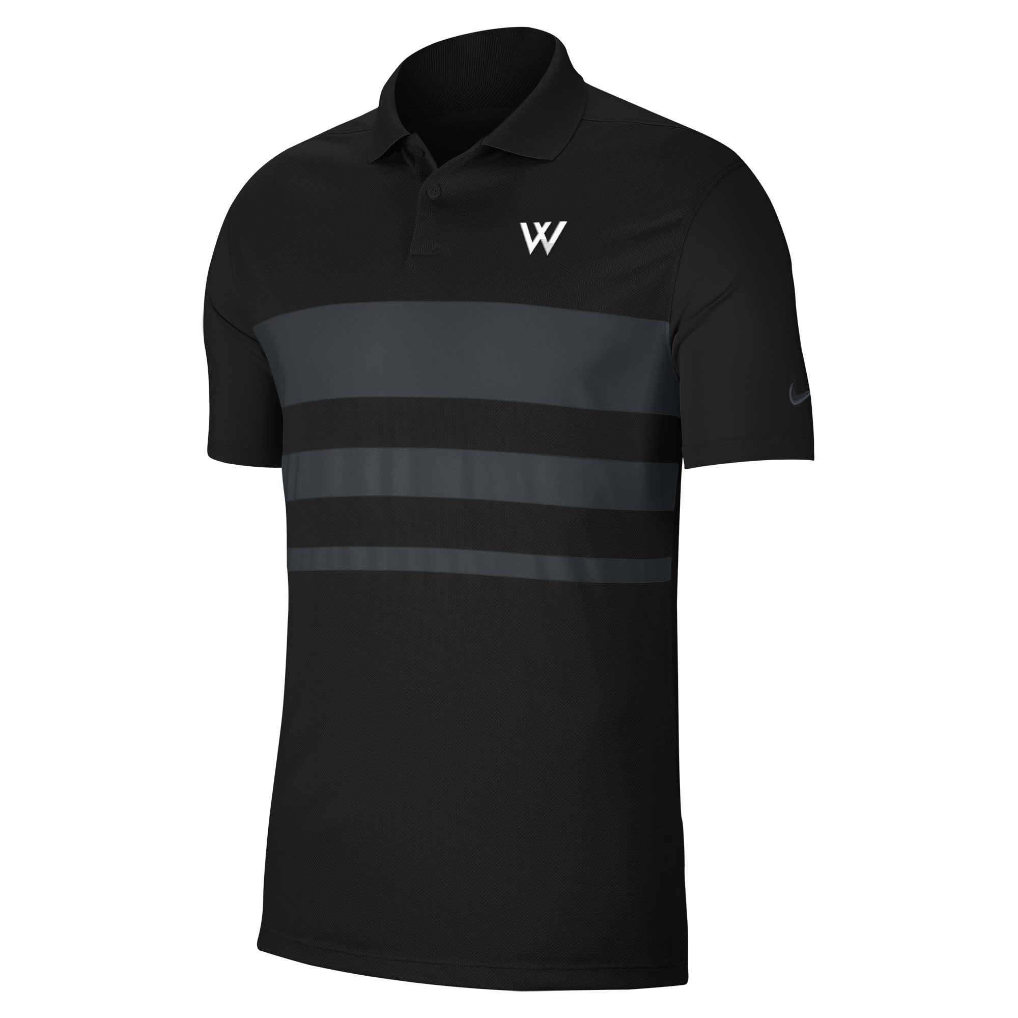 Nike Polo: Nike Vapor Victory Block - Black/Graphite