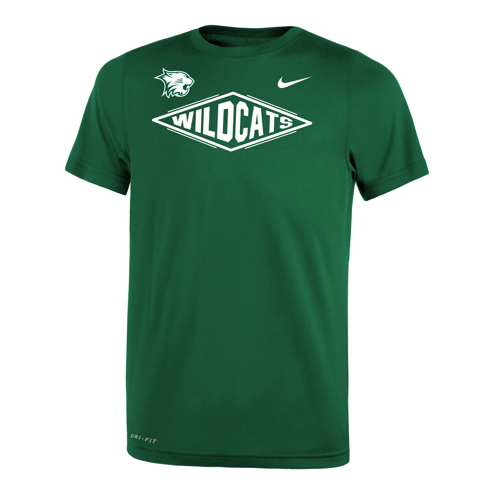 Nike T: Nike Legend SS - Green with Diamond