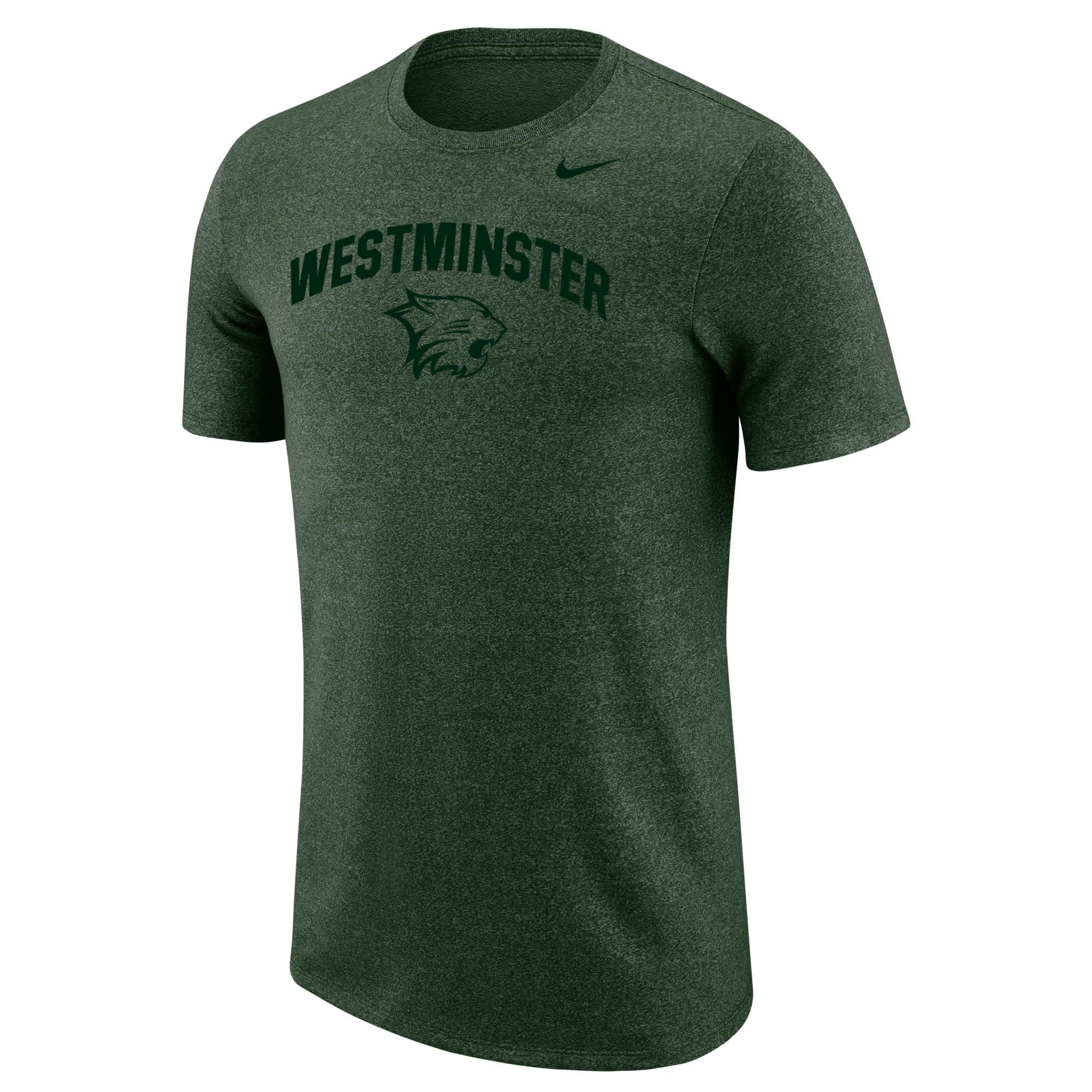 Nike T: Nike Marled SS Heathered Green Westminster w/Cathead
