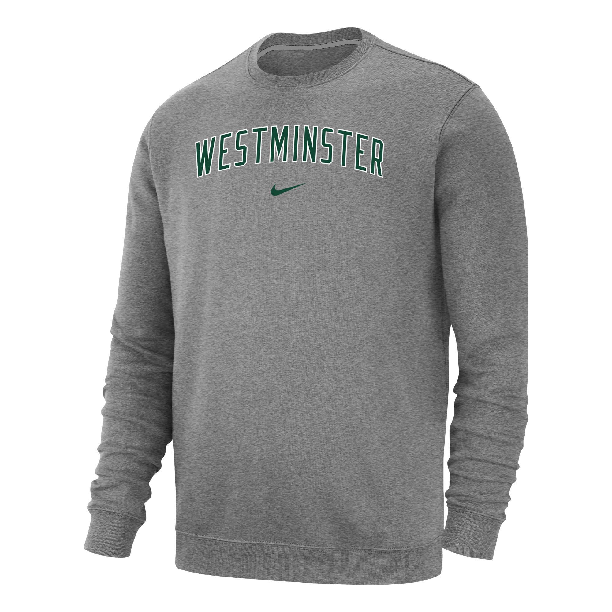 Nike Sweatshirt: Nike Club Fleece Crew - Light Gray