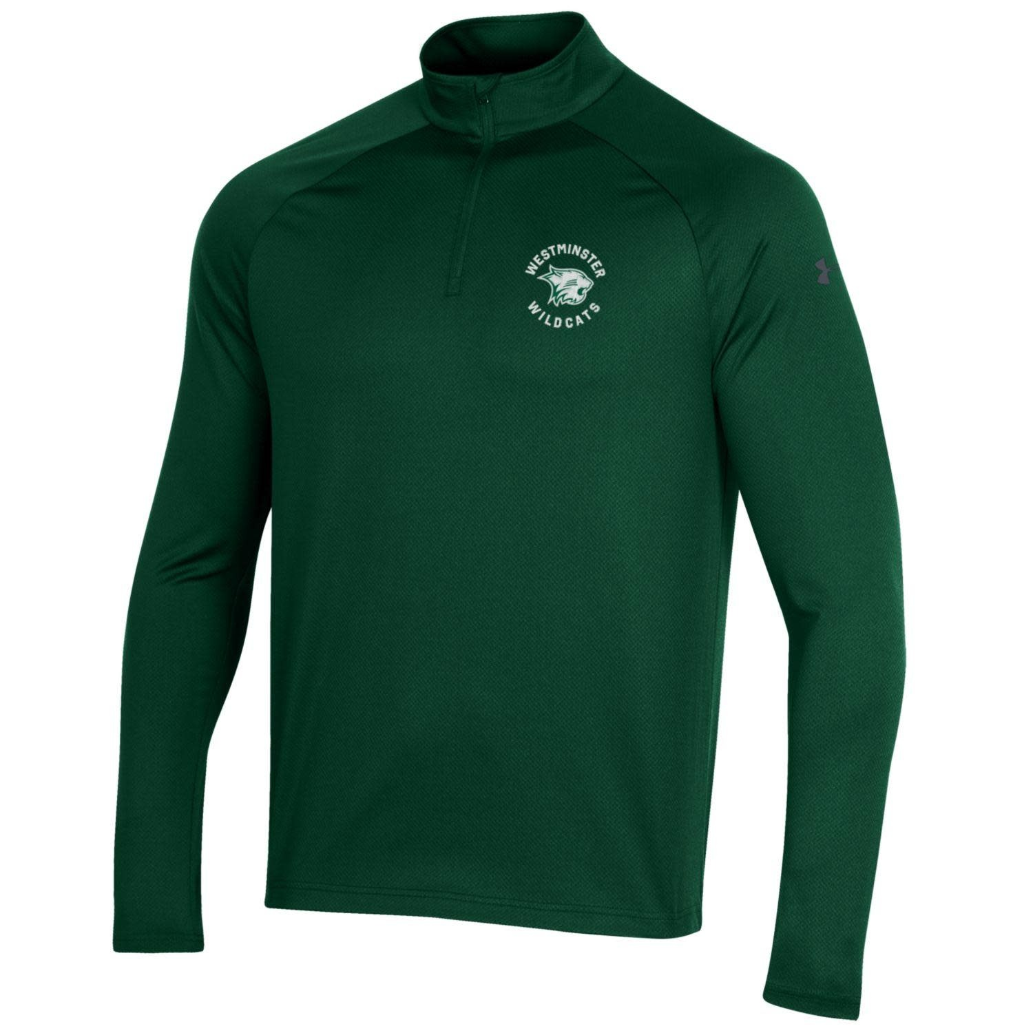 Under Armour Pullover: UA Mens Performance 1/4 Zip - Forest Green