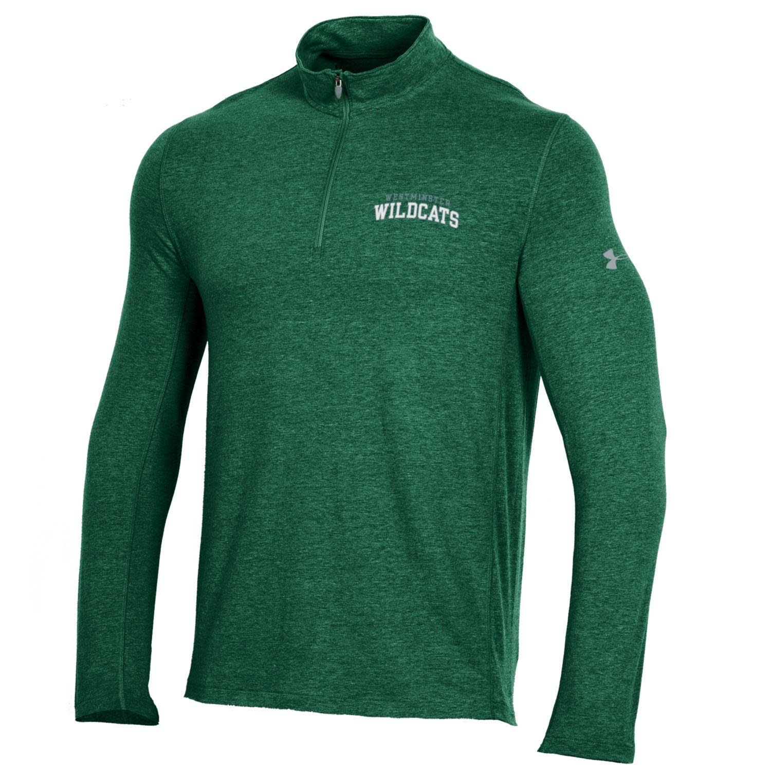 Under Armour Pullover: Mens Charged Cotton 1/4 Zip - Breathable side panels