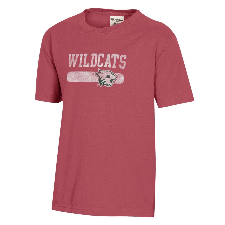Comfort Wash T: Comfort Wash Wildcats w/Cathead