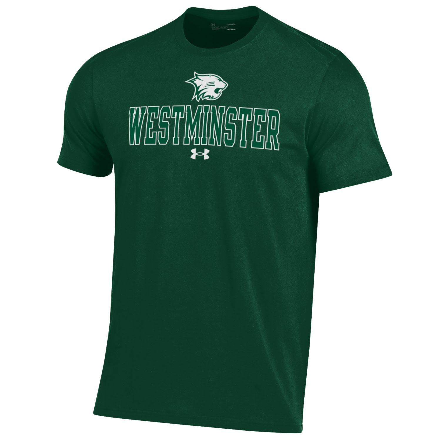 Under Armour T: UA Performance Cotton SS Wildcat over Westminster
