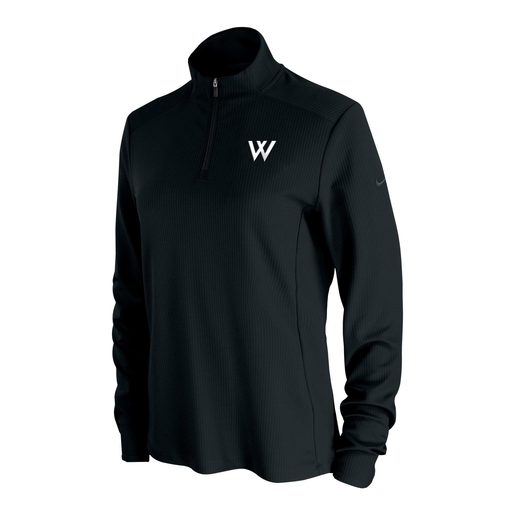 Nike Pullover: Nike Women's UV Victory 1/4 Zip - Black