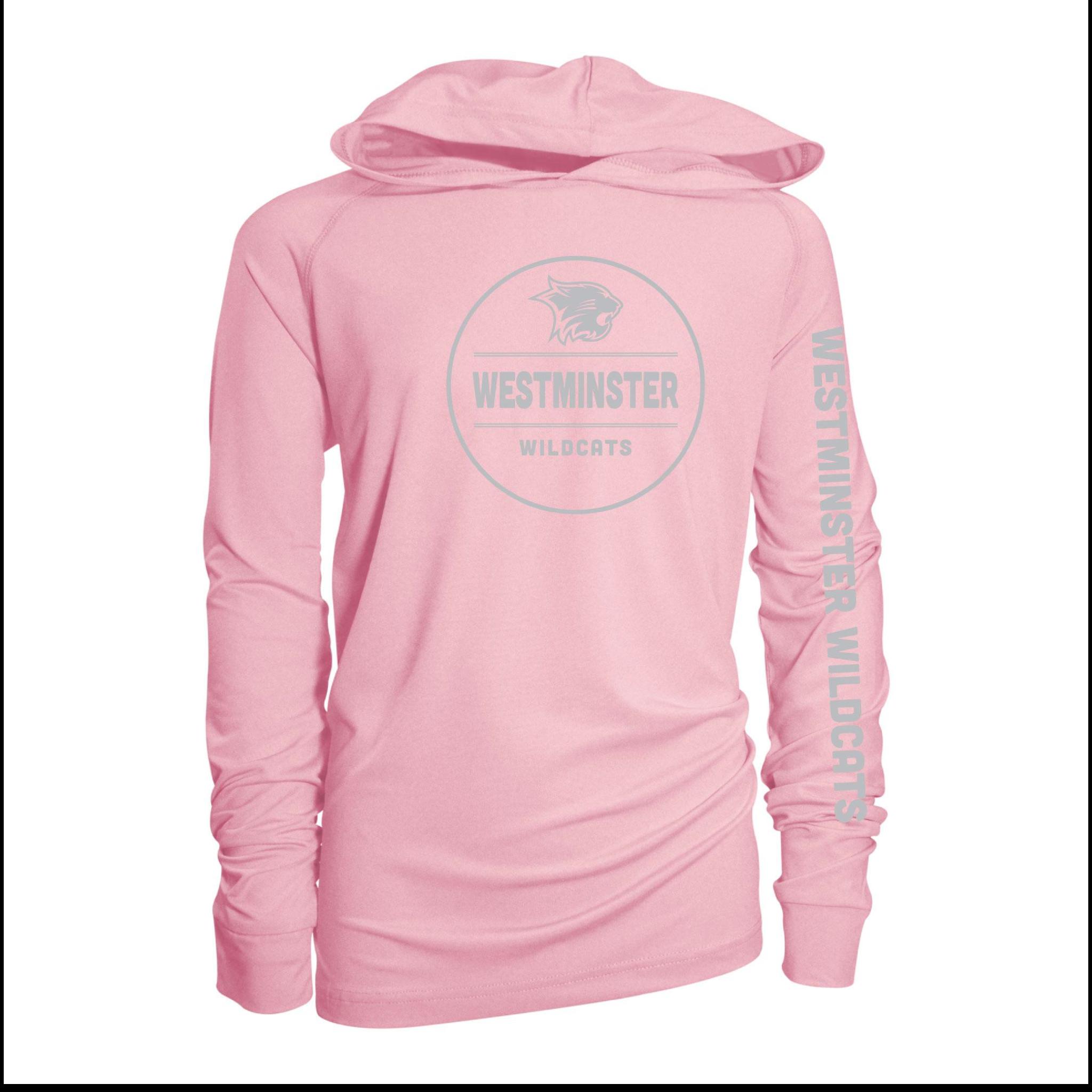 Garb Pullover: Pink Girls Hooded Sunshirt