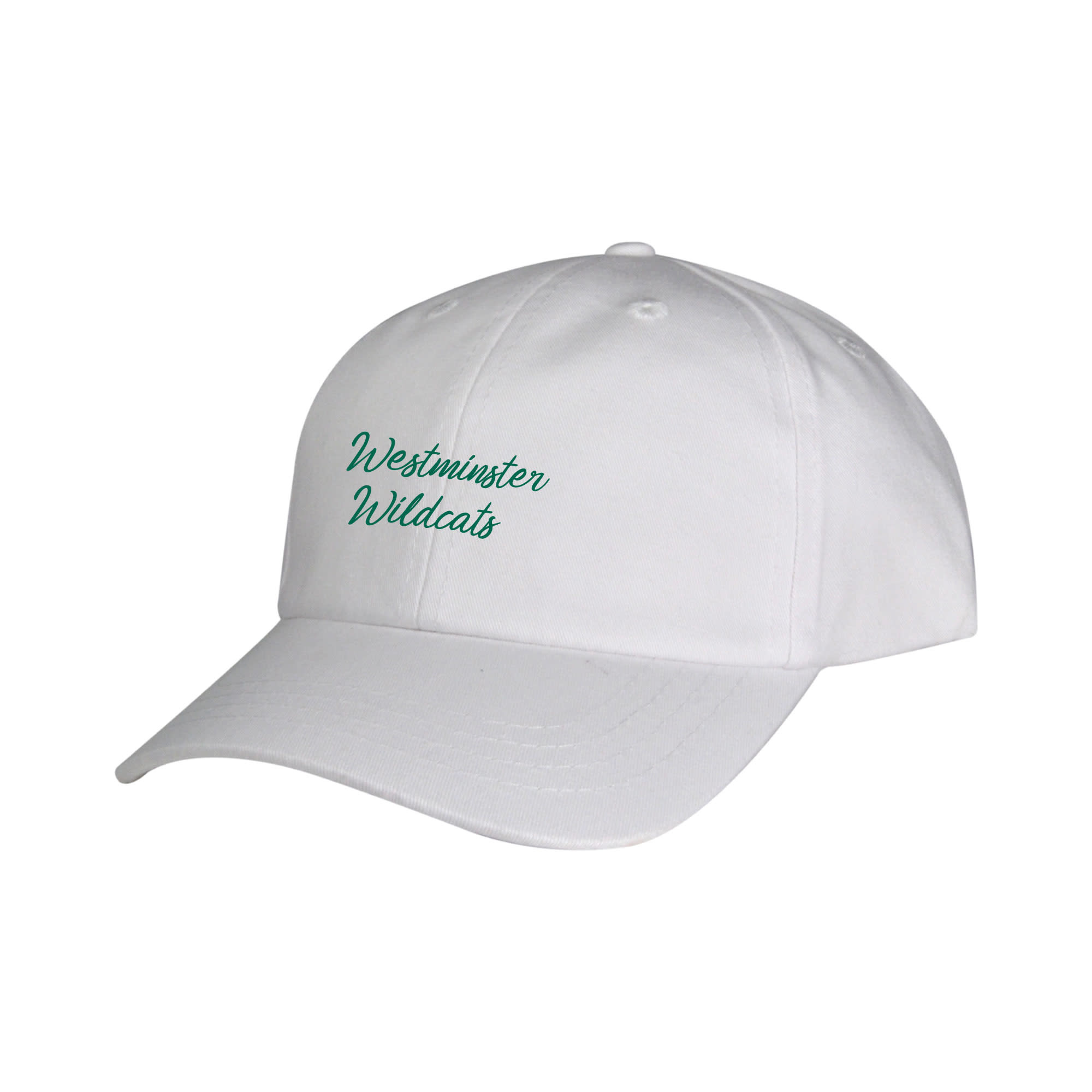 """Garb Hat: Bennett Washed Twill, """"Westminster Wildcats"""" Youth"""