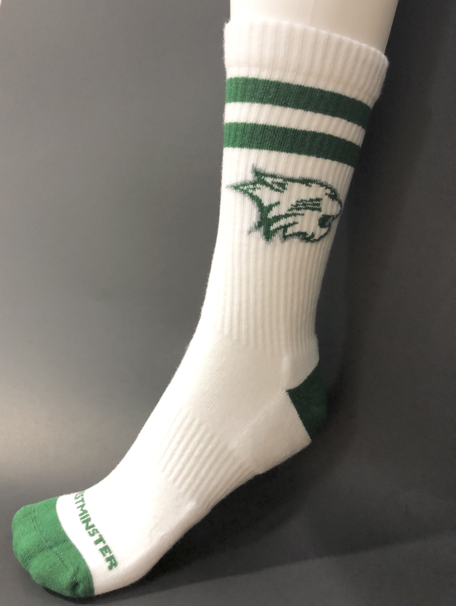 Socks: Athletic Striped High Crew