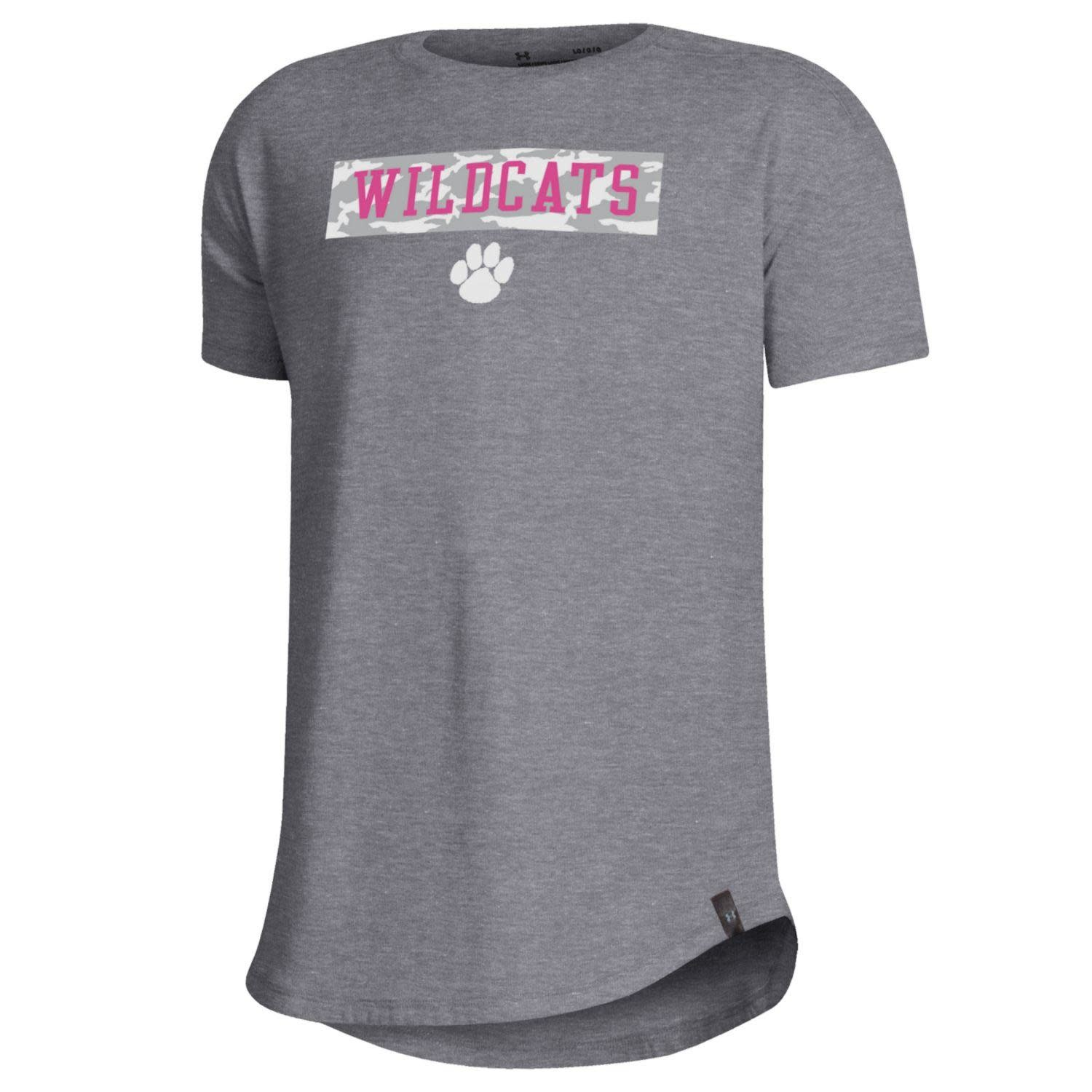 Under Armour T: UA Wildcats with Camo Above Paw Logo