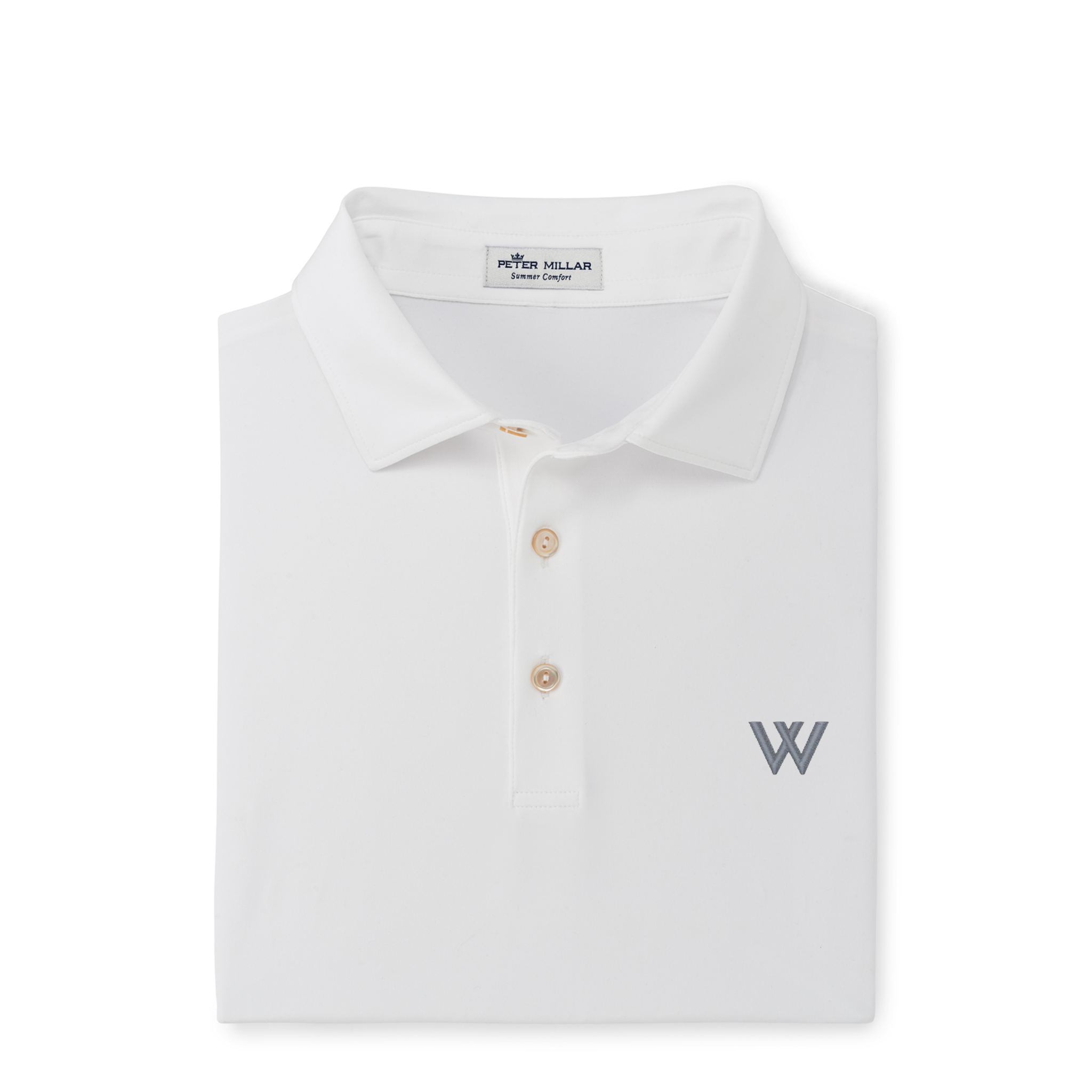 Polo: Peter Millar Solid Performance Jersey, White