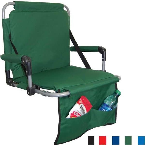 Stadium Seat- Green Canvas w/ Pockets