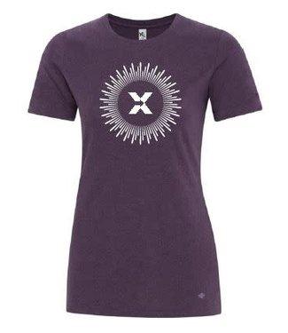 ABX T-Shirt Ladies Purple/White