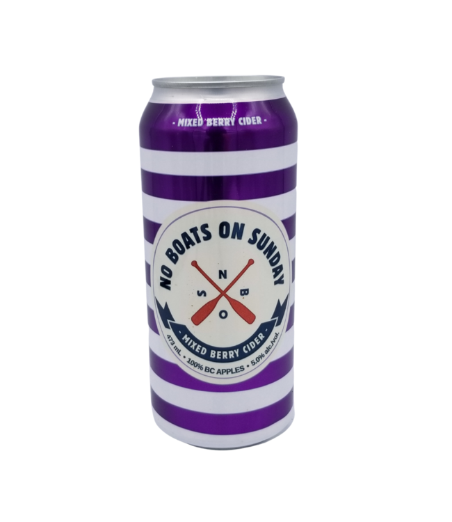No Boats on Sunday Mixed Berry Cider 473ml