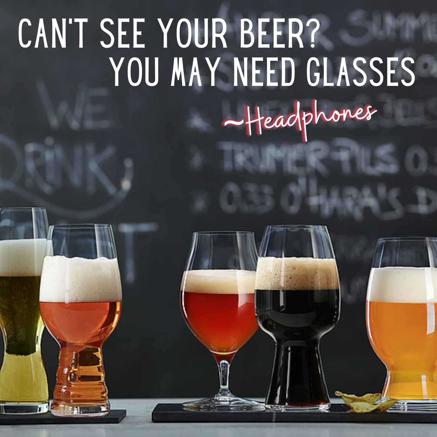 Can't see your beer? You may need glasses!