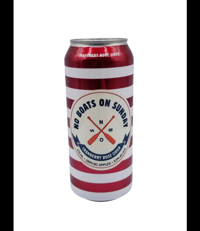 No Boats on Sunday Cranberry Rose Cider 473ml