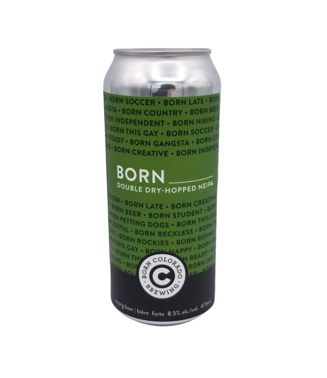 Born Colorado Brewing Born Double Dry-Hopped NEIPA 473ml