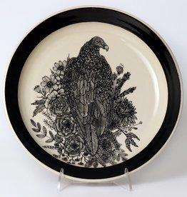Erica Lynn Hood Erica Lynn Hood - Turkey Vulture & Blooms Large Plate