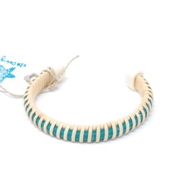 KLM Designs KLM Designs - Sconset Cuff Teal & Natural