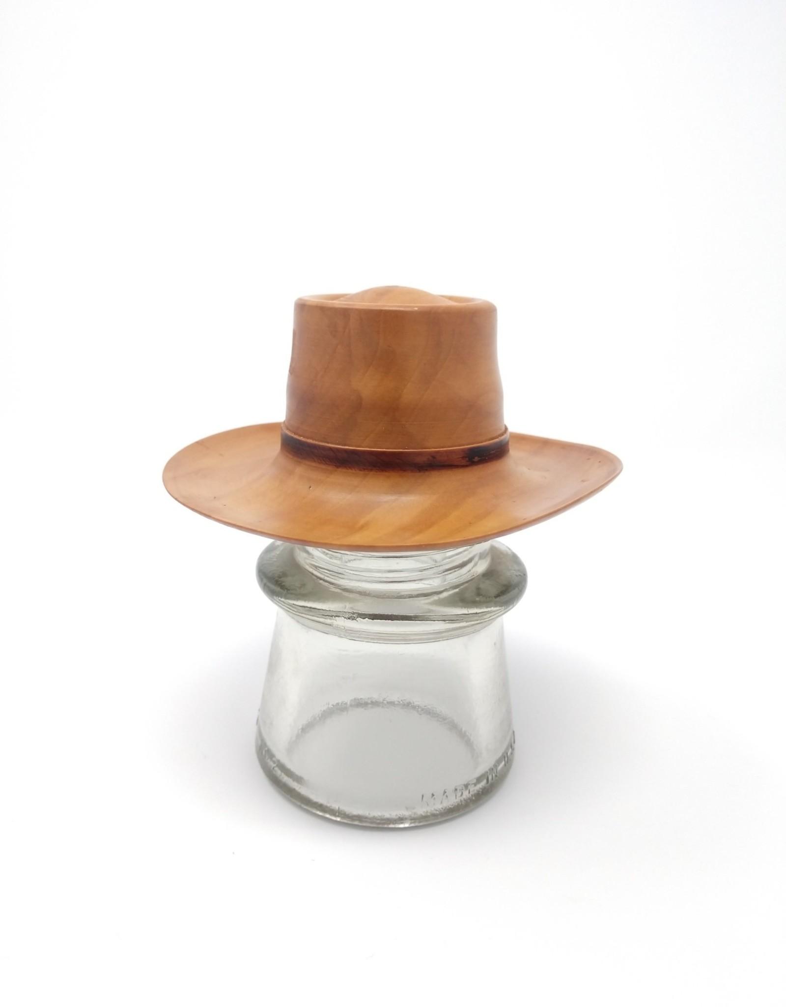 Art Jalbert Art Jalbert - Mini Cowboy Hat Apple Wood