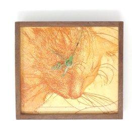 Bethia Brehmer Bethia Brehmer - Great Cat Orange Clock Etching